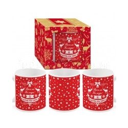 Коледна чаша в кутия Весела Коледа и Щастлива Нова Година