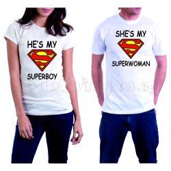 Бели тениски за двама - Supermen & Superwoman