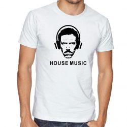 бяла мъжка тениска house