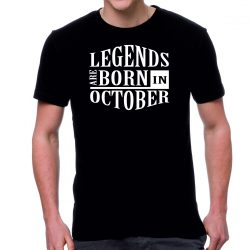 Черна мъжка тениска FOTL legends are born in October