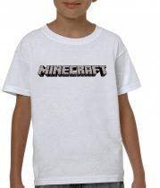 Бяла детска тениска - Minecraft
