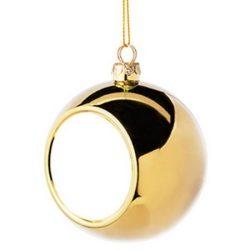 Коледна украса - топка - златна, с ваша снимка