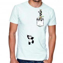 Бяла мъжка тениска - Панди