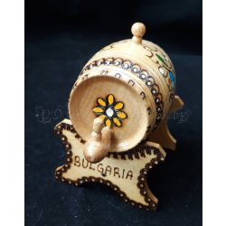 Декоративно пирографирано буренце на стойка
