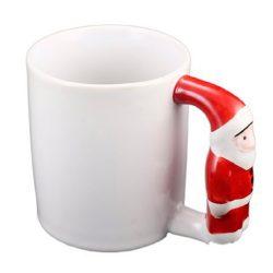 Керамична бяла чаша с дръжка - Дядо Коледа