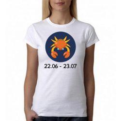 Бяла дамска тениска - Зодия Рак