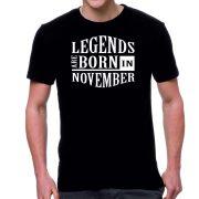 Черна мъжка тениска FOTL Legends are born in November