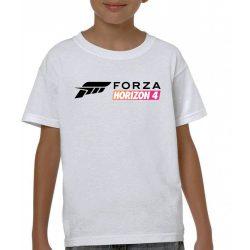Бяла детска тениска - Forza Horizon 4