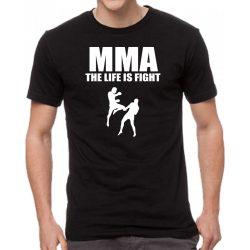 Черна мъжка тениска - MMA