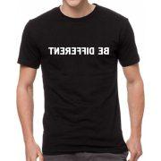 Черна мъжка тениска - Be different