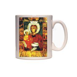Керамична чаша с Богородица - 3