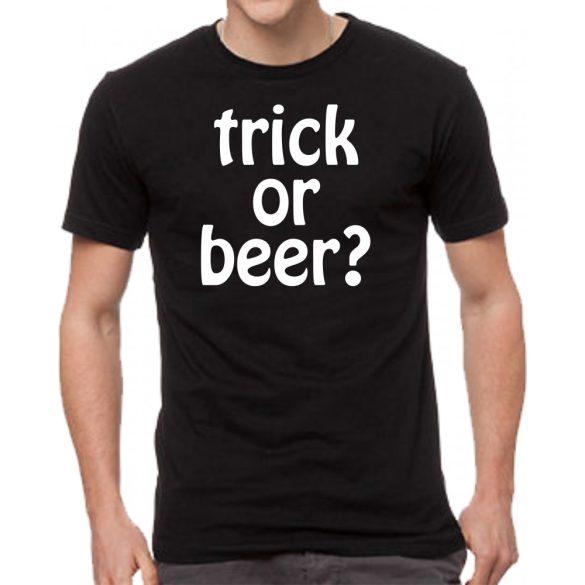 Черна мъжка тениска - Trick or beer?