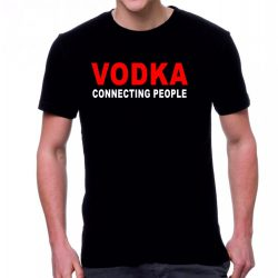 Черна мъжка тениска - Vodka...
