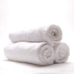 Бяла хавлиена кърпа - Голяма