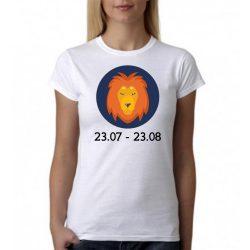 Бяла дамска тениска - Зодия Лъв