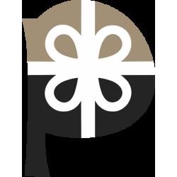 Декорирана бутилка вино - 750 мл. - Честит празник с детелина